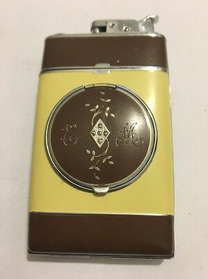 Vtg Art Deco EVANS & LIGHTER & Cigarette Case & COMPACT Powder Rouge