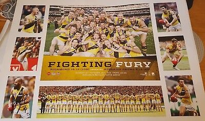 Hand signed by Bachar Houli Richmond F.C.Tigers Fighting Fury 2017 AFL Premiers