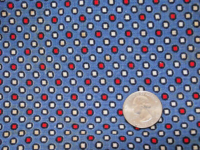 Vintage cloth feed sack dot check print - quilt or craft project fabric