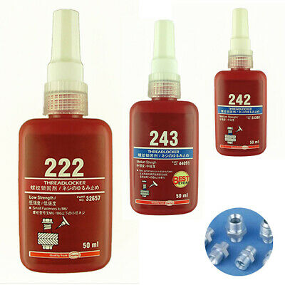 222/242/243 Thread Lock 50ml Blue Bolt Stud Fast Fix Screw Glue Nut Compound