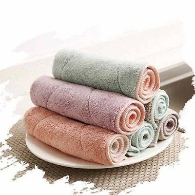Absorbent Dish Cloth Fiber Washing Towel Kitchen Microfiber Cleaning Wiping Rags
