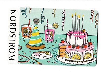 Nordstrom No Value Collectible Gift Card Mint 48 Birthday Party