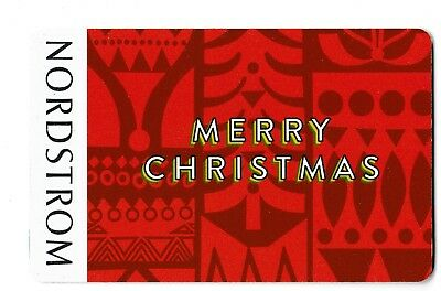Nordstrom No Value Collectible Gift Card Mint 47 Merry Christmas
