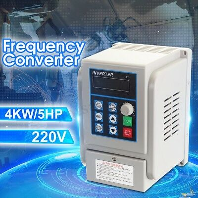 Single To 3 Phase 220V 4KW 5HP VARIABLE FREQUENCY DRIVE INVERTER VFD