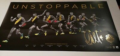 Dustin Martin Unstoppable Richmond Tigers FC 2017 AFL Poster