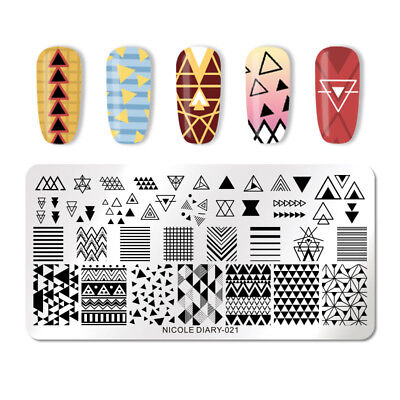 NICOLE DIARY Nail Stamping Plates Stainless Steel  Pattern Nail Art Tool