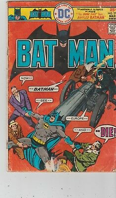 "DC COMICS BATMAN #273 MAR 1976 - ""THE BANK SHOT THAT BAFFLED BATMAN!""acceptable+"