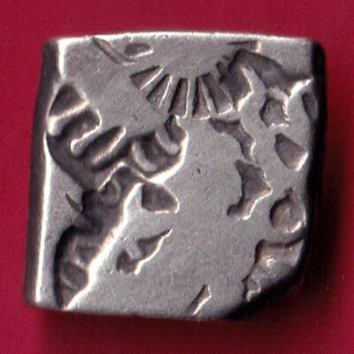 Ancient India - King Ashoka - Punchmark - Rare Silver Coin #f34