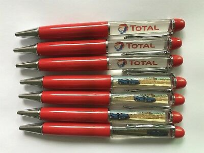 Total Blue Car Liquid Floating Pen Novelty Gift