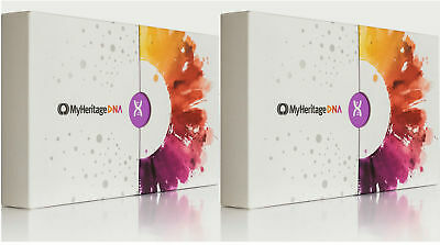 *HOT* - MyHeritage DNA Test Kit -Ancestry &Ethnicity Genetic Testing_ 2Boxes-Two