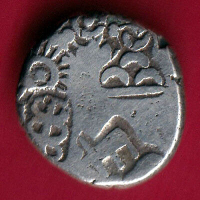 Ancient India - King Ashoka - Punchmark - Rare Silver Coin #f52