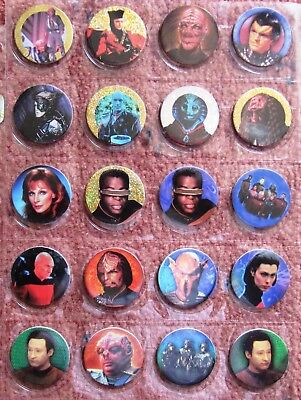 1995  Star Trek  THE NEXT GENERATION Pogs (milk caps) & Slammers  (Lot of 51)