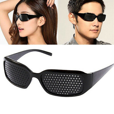 Black Pinhole Glasses -Eyes Correction Exercise Eyesight Vision Care Improvement