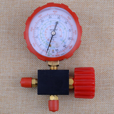 High Pressure Single Gauge Valve A/C Refrigerant For R12 R22 R410 R134A 800psi