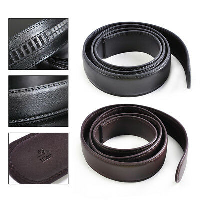 Men Genuine Leather Belt Automatic Waistband Waist Strap Replace without Buckle
