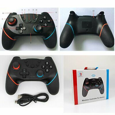 Wireless Dual Shock Game Controller Gamepad For Nintendo Switch NS Pro Console