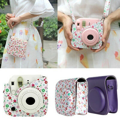 For Fujifilm Fuji Instax Mini 8 9Instant Camera PU Leather Bag Carry Cover Case