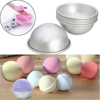 AU 6Pcs Aluminum Ball Sphere Bath Bomb Mold Mould Cake Stainless Steel Metal