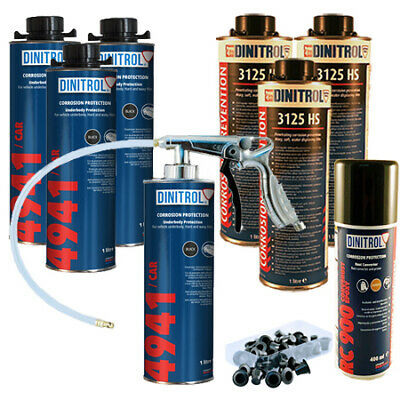 Dinitrol High Solids Rust Proofing Litres Kit For Medium Car