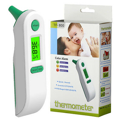 Dual Mode LCD Digital Thermometer Kids Ear Forehead Temperature Measurer Useful