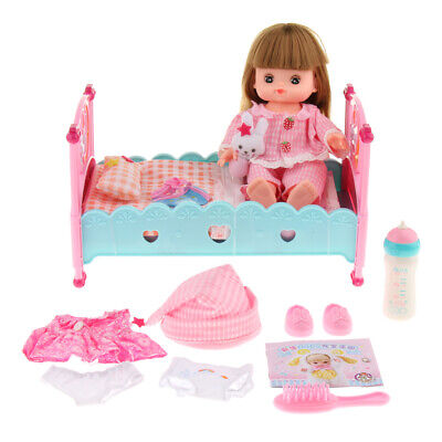 Deluxe Mummy & Baby Toy Cradle Girl Doll Bed Crib Set Kids Role Play Game