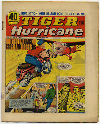 Tiger 15th Oct 1966 (Jet-Ace Logan, Olac The Gladiator, Roy of the Rovers...)