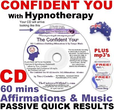 CONFIDENCE BUILDING AFFIRMATIONS MUSIC HYPNOSIS CD CONFIDENT Fast Easy Results
