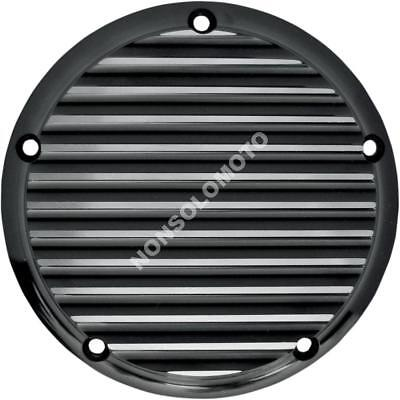 Cover Coperchio Frizione Joker Harley Davidson Big Twin Fld 99>18 Finned Black