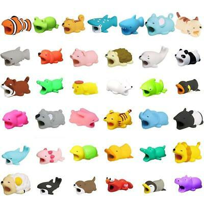 Cartoon Animal Cable Phone Charger Protector Soft Cord Accessories Biting Cute