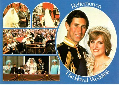 Reflection on the Royal Wedding, UK, 5 Views Postcard