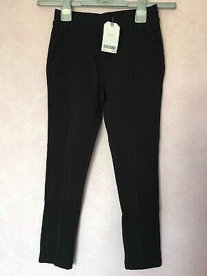 Next Girls Black Ponte Leggings Age 9 Bnwt