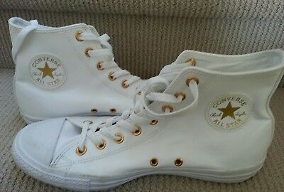 Converse Chuck Taylor All Star White Gold Limited Edition Shoes Womens US 11 UK9