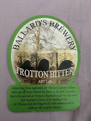 beer pump clip badge - Ballard's Brewery Trotting Bitter Ale