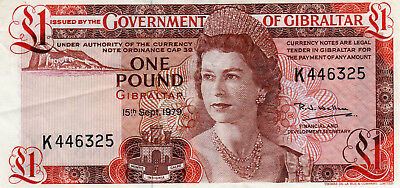 Government of Gibraltar Banknote  :  1979 UNC One Pound