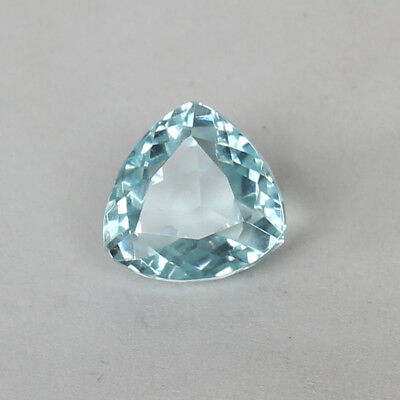 16.60 Ct Natural Aquamarine Greenish Blue Color Trillion Cut Loose Certified Gem