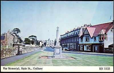 Postcard ~ GULLANE War Memorial & Main Street EAST LOTHIAN Scotland ~ c1978