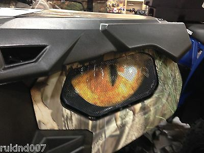 Polaris RZR 800-800S-900XP  HEADLIGHT COVERS  YELLOW eyes RUKINDCOVERS