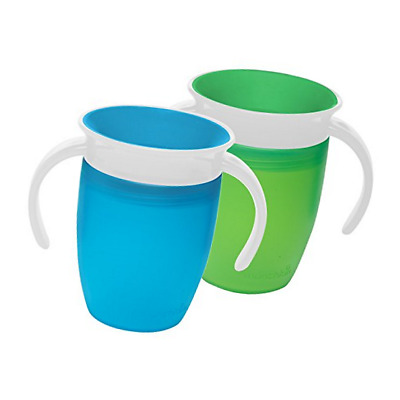 Munchkin Miracle 360 Trainer Cup, Green/Blue, 7 Ounce, 2 Count 47022