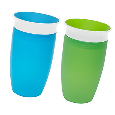 Munchkin Miracle 360 Sippy Cup, Green/Blue, 10 Ounce, 2 Count 47020