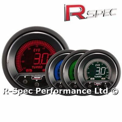 Prosport 52mm Premium Evo Peak / Adustable Warning LCD Turbo Boost Gauge - BAR