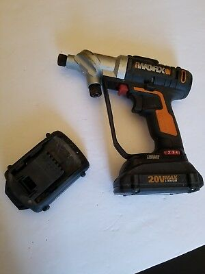 WORX WX176L.5 Switchdriver 20V MAX Cordless Drill Driver 2 batteries no charger