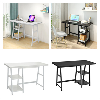 Home Office Computer Desk Workstation with Shelves Storage PC Laptop Study Table