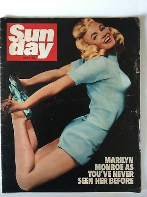 Marilyn Monroe Yoga Magazine Cover Rare 1 Day UK Supplement MM story inside