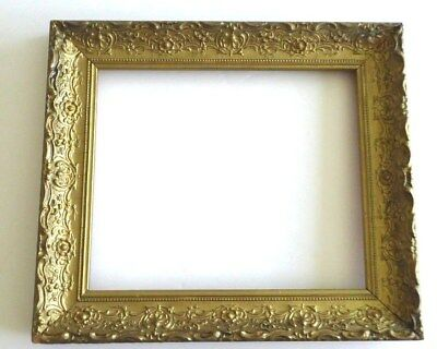 "Antique Victorin Ornate Carved Gilt Gold Wood Painting Art Photo Frame 15"" x 13"""