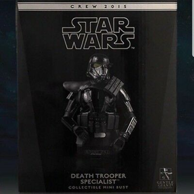 Rare StarWars Gentle Giant Death Trooper Rogue One Film Crew Exclusive Mini Bust