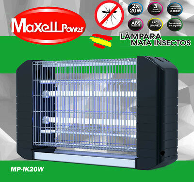 Maxell Power INSECT KILLER UV anti MOSQUITOS INSECTOS MATA MOSQUITO  2 X 20W