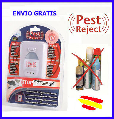 PEST REJECT anti MOSQUITOS Repelente INSECTOS ROEDORES Cucarachas Visto en TV