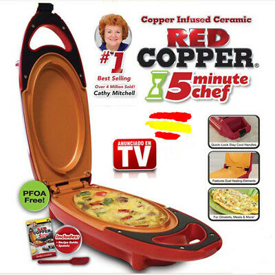 RED COPPER Express Sarten electrica COBRE VISTO en TV Plancha FRIE Tortillas