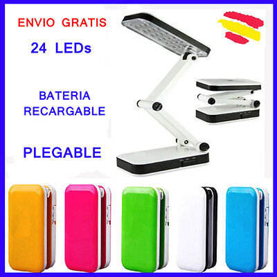 LAMPARA FLEXO 24 LEDS PLEGABLE Bateria Recargable Sin CABLES LED