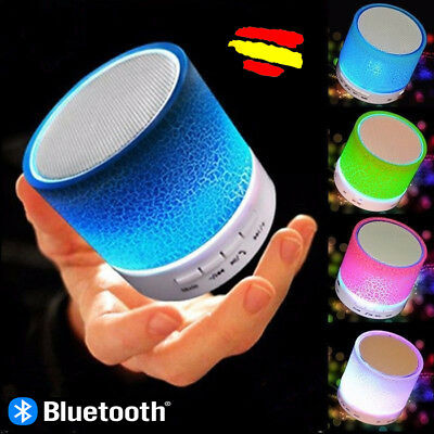 Altavoz lampara RECARGABLE luminoso Bluetooth Portatil LUZ musica USB SD  led